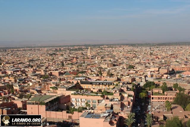 Marrakech vue du ciel