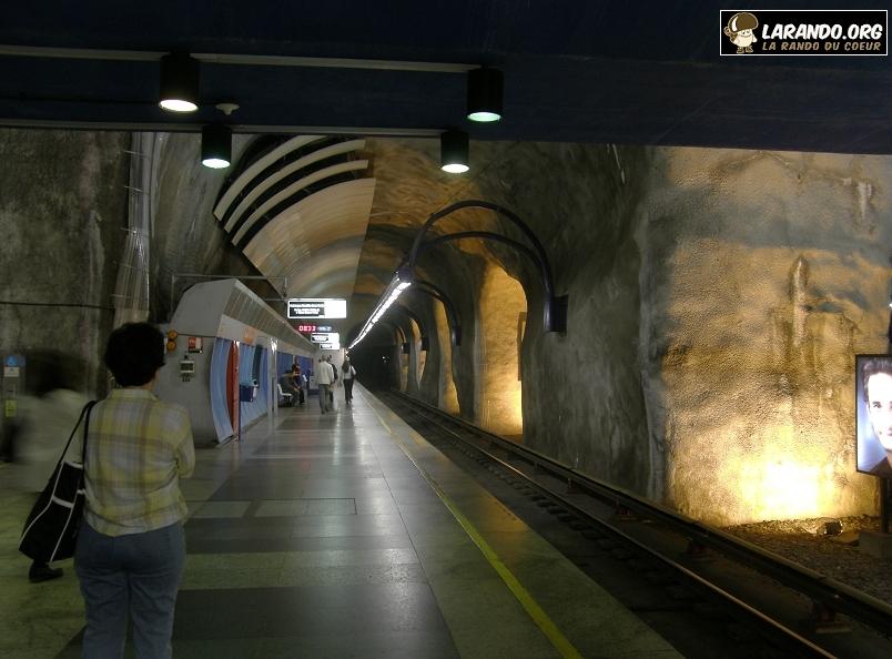 Photos du métro de Rio de Janeiro, Brésil