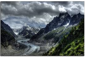 glacier de la Mer de Glace de Chamonix
