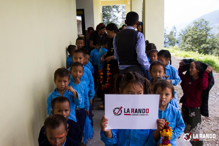 Action humanitaire au Népal avec La Rando