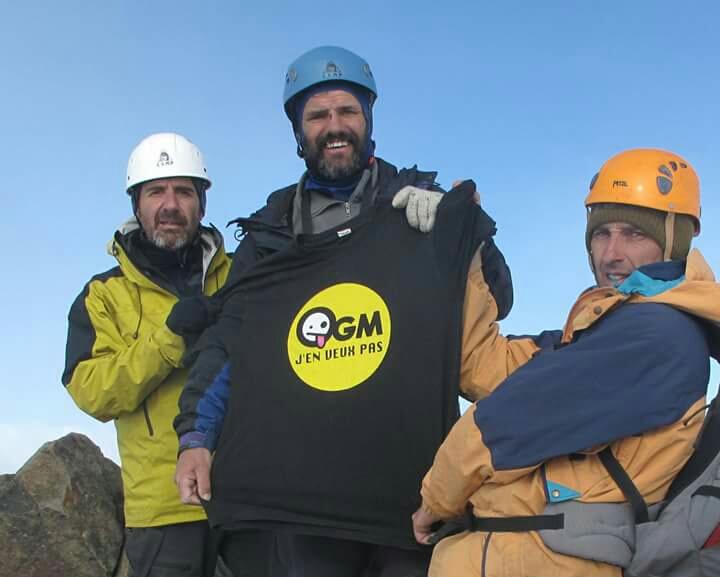 Avec ses amis Guillaume et Francis au sommet de l'Illinizas Norte